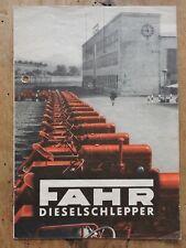 orig. Prospekt Fahr Diesel Programm D17/D25/D30L Schlepper 8Seiten 1952