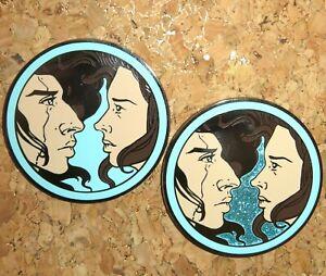 Star Wars REYLO FANTASY PIN BADGE Kylo Ren Rey Skywalker blue & blue glitter ART