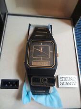 Rare Vintage Seiko H449-5339  LCD Digital Watch - 1980's++*{Black Tone}