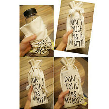 Fashion Beige Canvas Don't Touch This is My Bottle Holder Cover Portable BAG CN