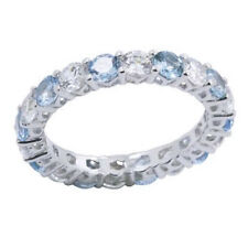 Round Diamond Eternity Band Ring 14k Gold Over Sterling Silver - 2.50 Cttw