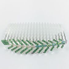 Hair Comb Hairpin use Swarovski Crystal Elegant Charming Leaf Silver Green Z32