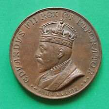 1902 Edward VII Bronze Coronation Medallion 46mm by Insenga Napoli SNo52130