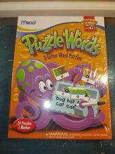 Puzzle Words Learning Fun ages 4+ 24 Puzzles w/marker Mead New 2012