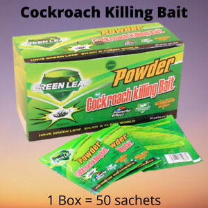 1 Box (50 Sachets) Cockroach Killing Bait Powder Effective Roach Killer