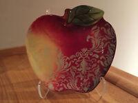 Certified International Rustic Fruit Apple Tray Plate Susan Winget F14 RARE NWOB