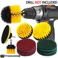 12pcs Power Scrubber Brush Set for Cleaning Bathroom Kitchen Tile Cordless Drill