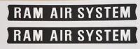 SUZUKI GT380 GT550 RAM AIR SYSTEM DECALS x 2 ONE PAIR