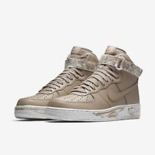 online retailer 9bf89 1992c Nike Force 1 alta 07 LV8 Air BASILL AF1 Hombre Talla 10 Blanco Cuero  Tostado AT3293