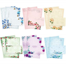 Stationary Paper and Envelopes Set Pack of 48 - Japanese Stationery Set Vintage