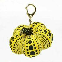 Yayoi Kusama Soft Sculpture Pumpkin Mascot Plush key Ring yellow