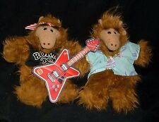 2 VINTAGE 1988 ALF ALIEN HAND PUPPET DOLL STUFFED ANIMAL PLUSH TOY BURGER KING