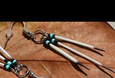 Tri Quill Porcupine Quill Earrings