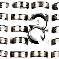 30/50pcs Wholesale Mixed Lot Stainless Steel Rings Unisex Fashion Ring Jewelry
