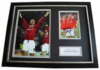 Teddy Sheringham SIGNED FRAMED Photo Autograph 16x12 display Manchester United