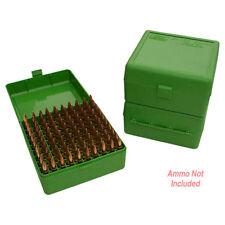 Mtm Rm10010 Ammo Box 100 Round Flip-Top 22-250 243 308 Win 220 Swift Green