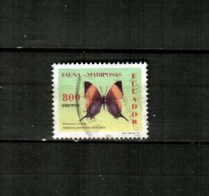 ECUADOR Scott's 1432 ( 1v ) Butterfly F/VF Used ( 1997 )