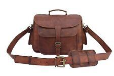 Leather DSLR Camera Bag Sony Nikon Canon Messenger Satchel Briefcase SLR Sling
