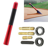 1 Set Red 12cm Aluminum Carbon Fiber Car AM/FM Radio Short Antenna Aerial BA