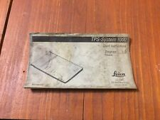 LEICA TPS - SYSTEM 1000 SHORT INSTRUCTIONS PROGRAM 5 TRAVERSE SURVEYOR