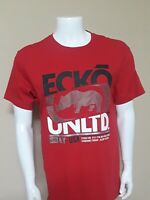 ☆NWT ECKO UNLTD AUTHENTIC MEN'S RED CREW NECK SHORT SLEEVE T-SHIRT SIZE XL
