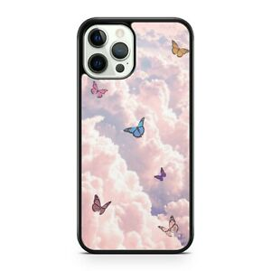 Majestic Colourful Elegant Fluttering Butterflies Cloudy Sky Phone Case Cover