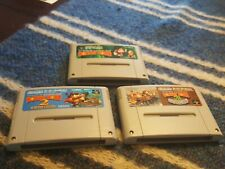 SUPER DONKEY KONG 1,2 & 3 (All 3) SNES Super Famicom Japanese *USA SELLER*