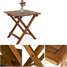 Wooden Coffee Table Low Snack Bistro Side Garden Furniture Patio Outdoor Small