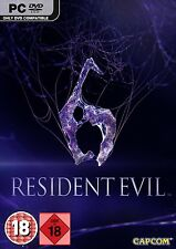Computer PC Game Resident Evil 6 DVD Shipping New