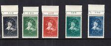 Nederland 300 -  304 Kind 1937 postfris met plaatnummers, bijzonder schaars