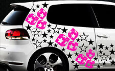 93 Sterne Star Auto Aufkleber Set Sticker Tuning Fee Stylin WandtattooTribel qqy