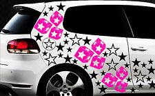 93 Sterne Star Auto Aufkleber Set Sticker Tuning Fee Stylin WandtattooTribel qqy