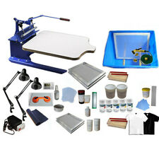One Color Silk Screen Printing Kit Pallet Adjustable Press Exposure Unit Machine