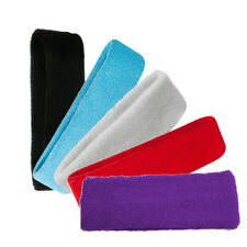 Head Sweatbands Sports Sweat Bands Headbands Unisex Fitness Gym Tennis