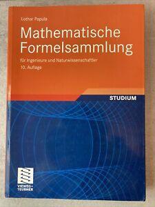 Mathematische Formelsammlung Papula 10. Auflage