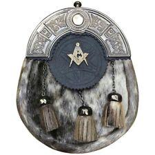 LS Écossais Kilt Sporran peau de phoque Masonic Finition Antique/Homme Kilt Sporran