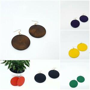 Wooden Round Earrings African Ethnic Boho