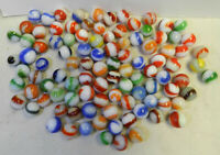 #12381m Vintage Group or Bulk Lot of 100 Akro Agate Corkscrew Marbles .56 to .75