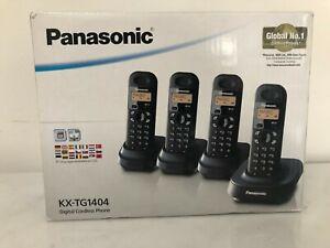 PANASONIC KX-TG1404 Digital Cordless Phone Set | 4 Handsets | Quad Set