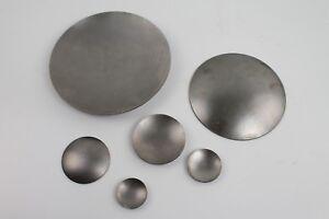Schale aus Stahlblech gewölbt roh - Blech rund Ronde Deckel Kappe Metall Stahl
