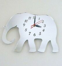 Elephant Mirrored Clock