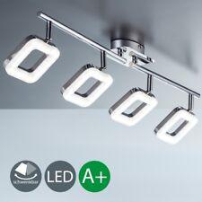 LED Decken-Lampe Design Leuchte Wohnzimmer Spot-Strahler chrom 4-flammig modern