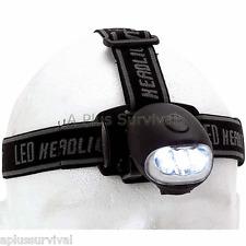 Dynamo Crank Wind Up Head Lamp 3 Way Emergency Survival Light Flashlight