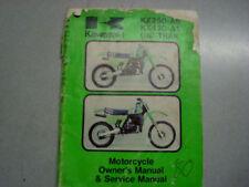 Owners Manual for Kawasaki '80 KX25 A6, KX420 A1 UNI-TX