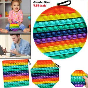 Silicone Big Jumbo Size Popper Fidget Bubble Stress Relief Toy Sensory Adult Kid