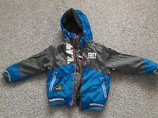 Next boys blue grey hooded padded jacket age 3 yrs