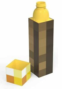 OFFICIAL MINECRAFT GAMING TORCH DRINKS 3D WATER BOTTLE 650ML NEW WITH TAGS *