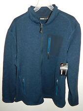 Mens SwissTech Marled Fleece Jacket - Navy and Black - Size 3XL - New