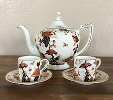 Vintage Coalport Fine Bone China - Made in England - Hong Kong Pattern Tea Set