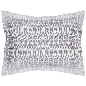 John Robshaw Textiles Asaya ONE KING Pillow sham Organic Cotton White / Lilac